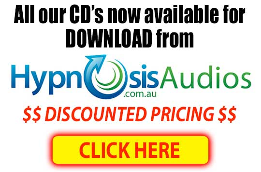 All hypnosis CD's now available as hypnosis audios